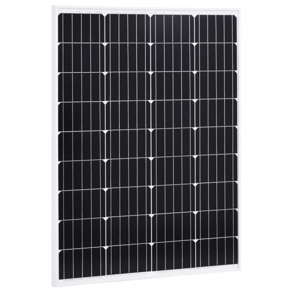 Solcellepanel 100 W aluminium og sikkerhedsglas