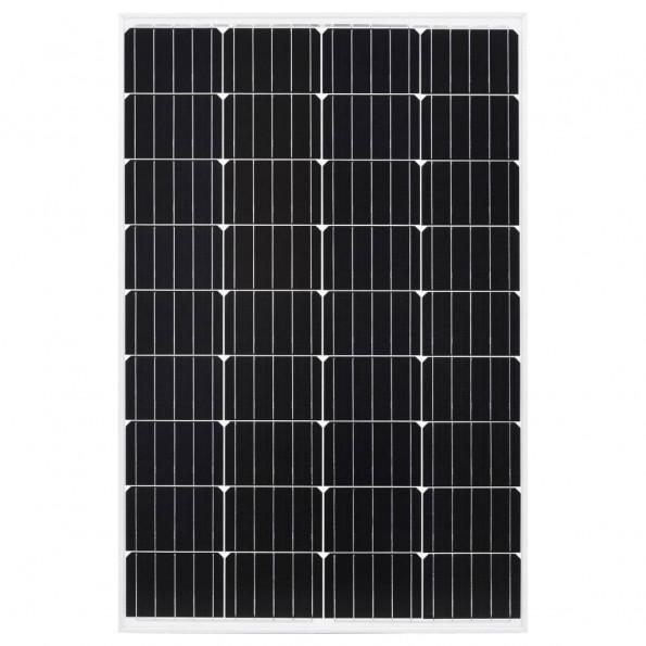 Solcellepanel 120 W aluminium og sikkerhedsglas