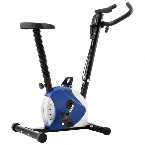 Motionscykel med båndmodstand blå