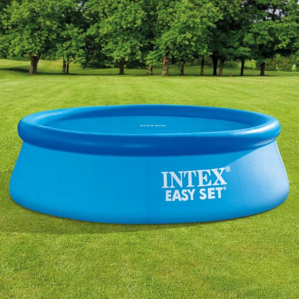 Intex solopvarmet poolovertræk rund 244 cm
