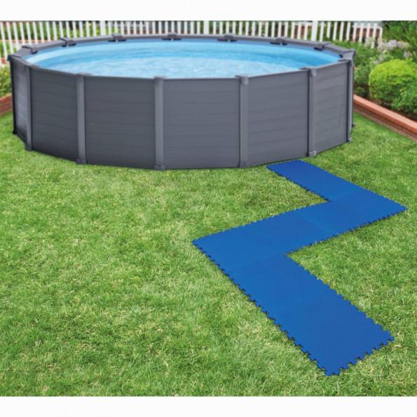 Intex gulvbeskyttere til swimmingpool 8 stk. 50 x 50 cm blå