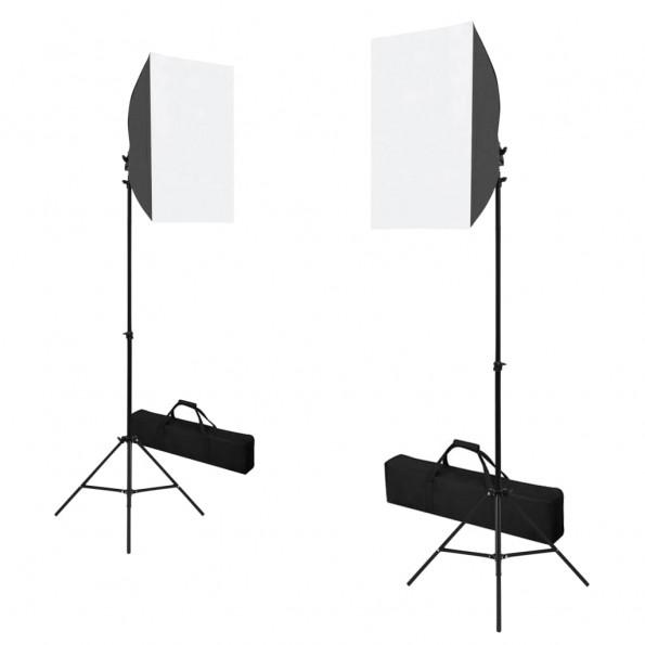 Professionelle studielamper 2 stk. 40 x 60 cm stål sort