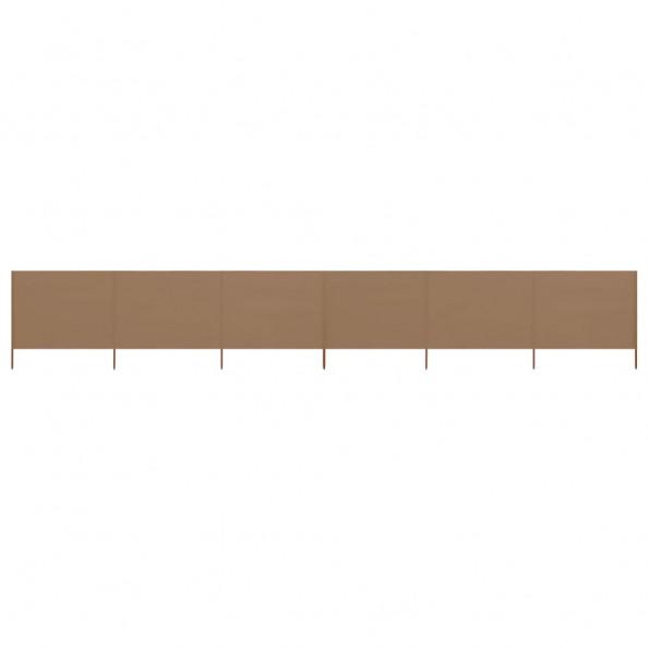 6-panels læsejl 800x120 cm stof gråbrun