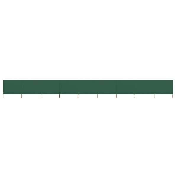 9-panels læsejl 1200x80 cm stof grøn
