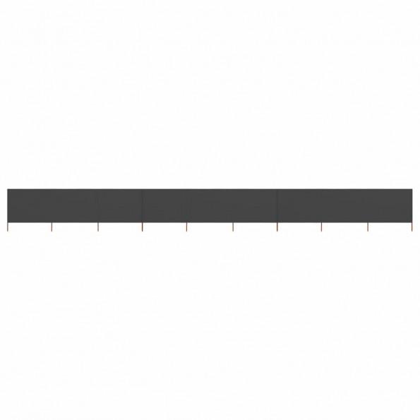 9-panels læsejl 1200x80 cm stof antracitgrå