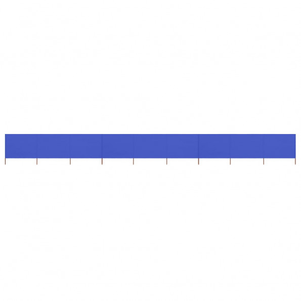 9-panels læsejl 1200x80 cm stof azurblå