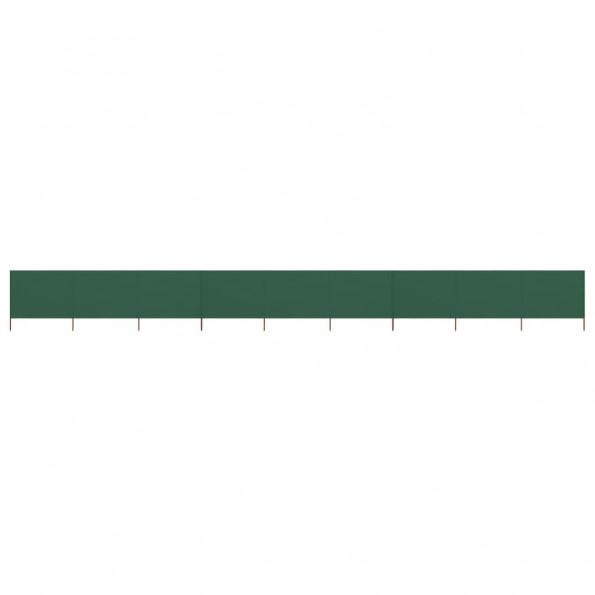 9-panels læsejl 1200x120 cm stof grøn