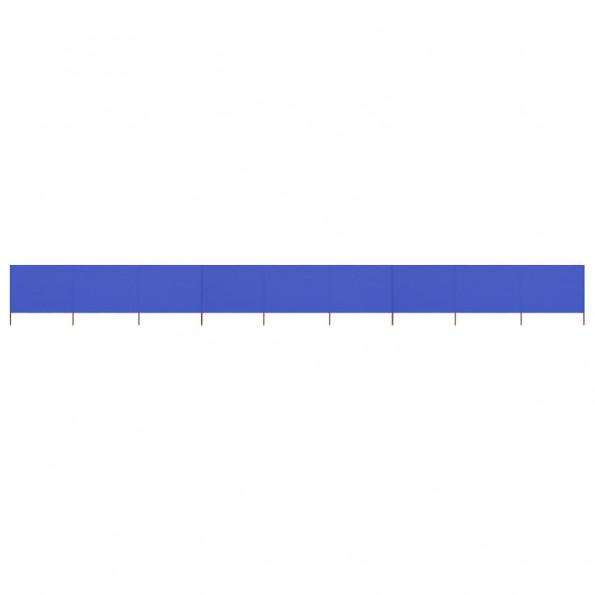9-panels læsejl 1200x120 cm stof azurblå