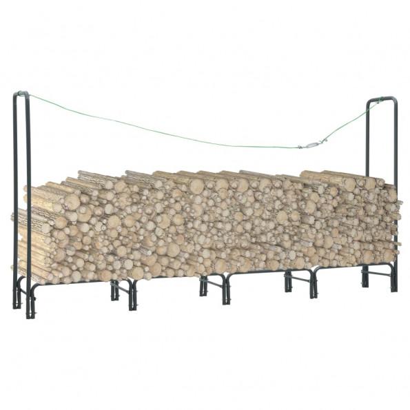 Brændestativ 240 x 35 x 120 cm stål antracitgrå