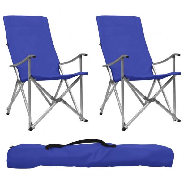 Foldbare campingstole 2 stk. blå