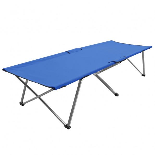 Campingseng 206 x 75 x 45 cm XXL blå