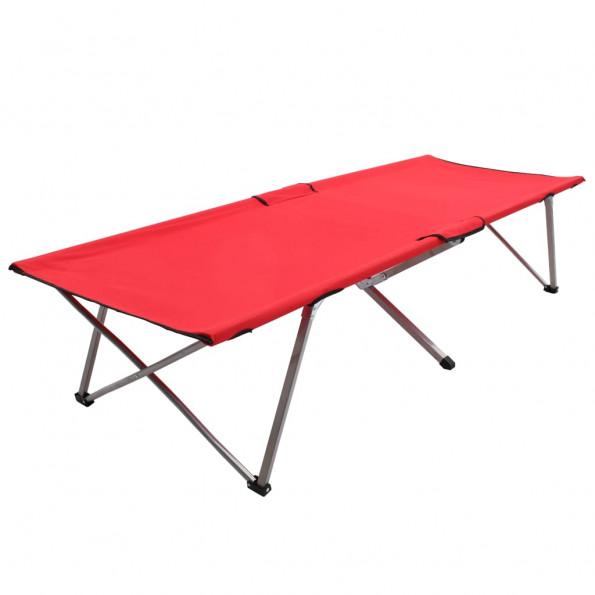 Campingseng 206 x 75 x 45 cm XXL rød