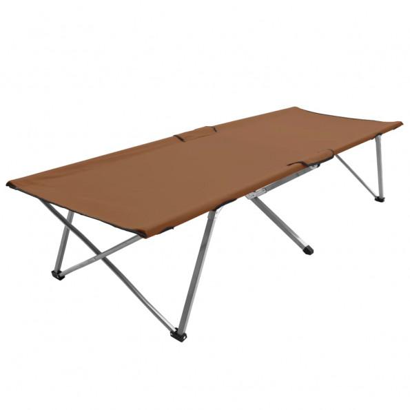 Campingseng 206x75x45 cm XXL brun