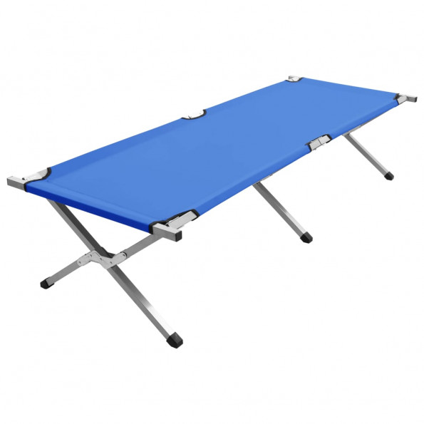 Campingseng 190 x 74 x 47 cm XL blå