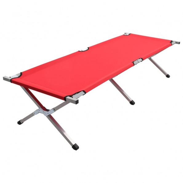 Campingseng 190 x 74 x 47 cm XL rød