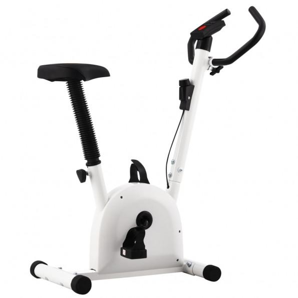 Motionscykel med båndmodstand hvid