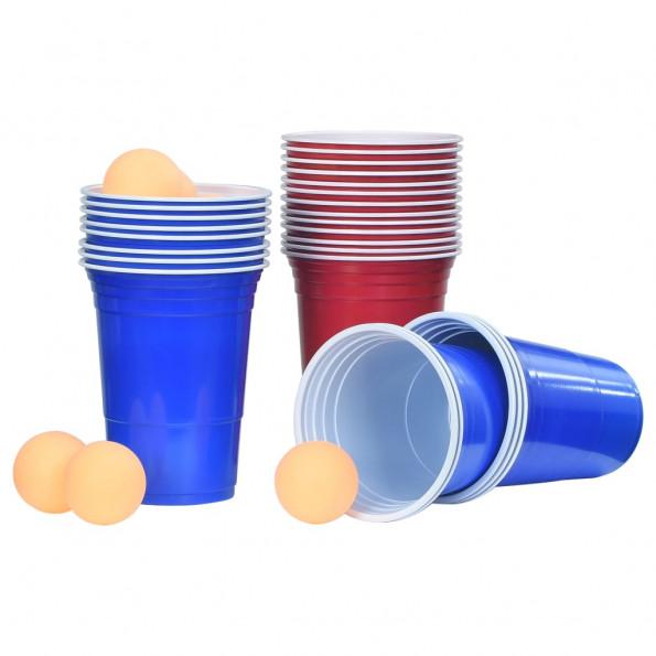 Beer pong-sæt 0,5 l plastik
