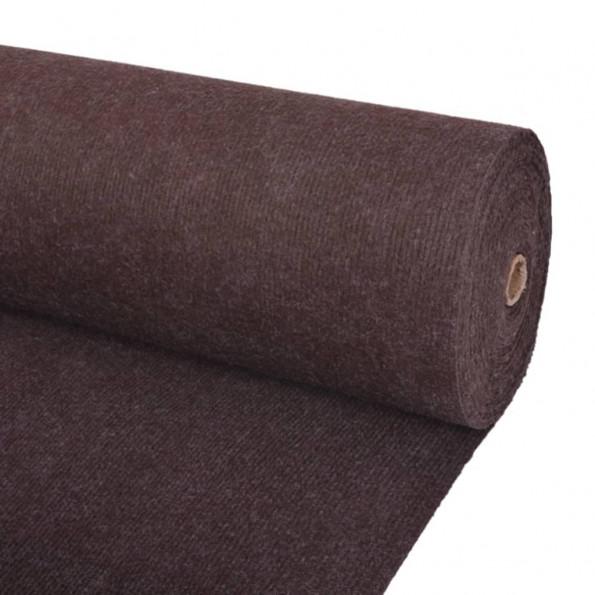Messetæppe riflet 1,6 x 10 cm brunt