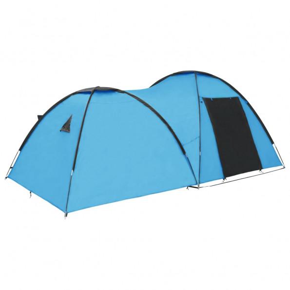 Campingtelt 4-personers 450x240x190 cm iglofacon blå