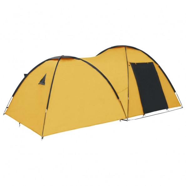 Campingtelt 4-personers 450x240x190 cm iglofacon gul