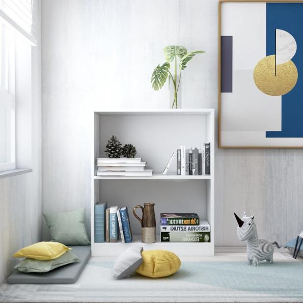 Bogreol 60 x 24 x 74,5 cm spånplade hvid