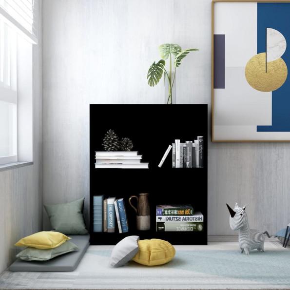Bogreol 60 x 24 x 74,5 cm spånplade sort