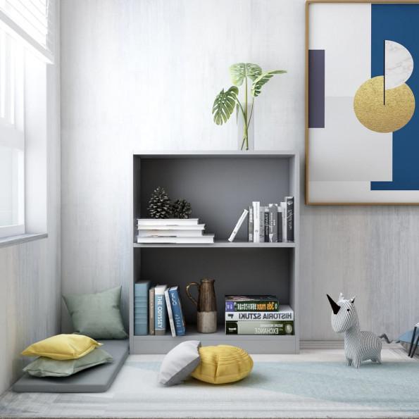 Bogreol 60 x 24 x 74,5 cm spånplade grå