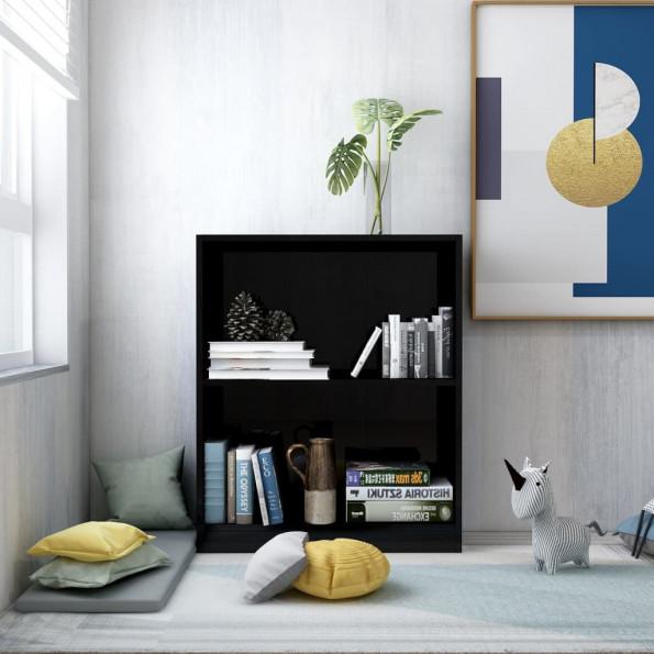 Bogreol 60 x 24 x 74,5 cm spånplade sort højglans