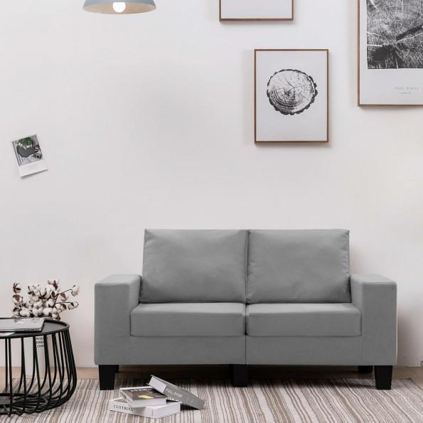 2-personers sofa stof lysegrå