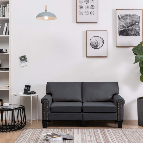 2-personers sofa stof mørkegrå