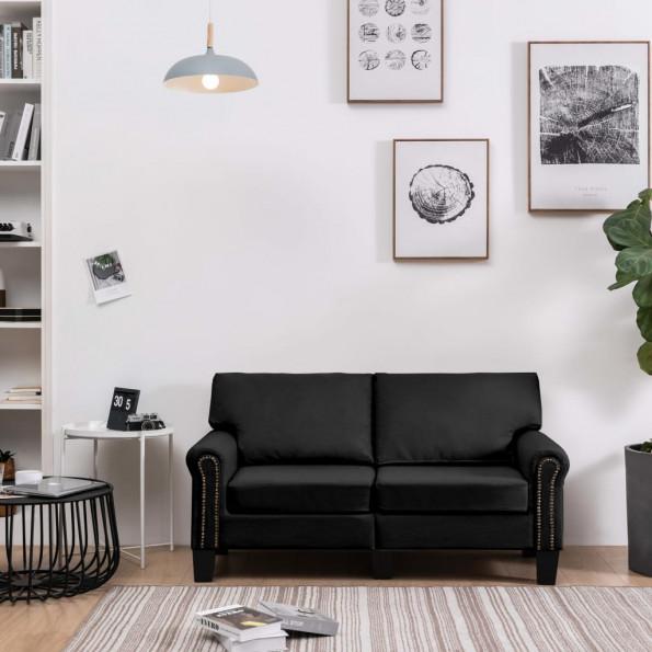 2-personers sofa stof sort