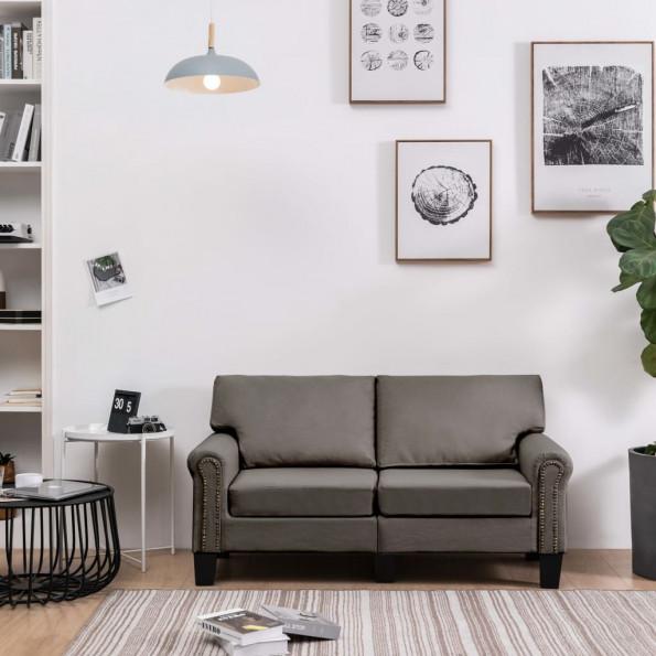 2-personers sofa stof gråbrun