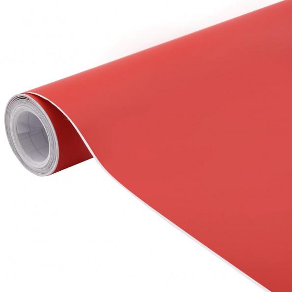 Bilfolie 200x152 cm mat rød