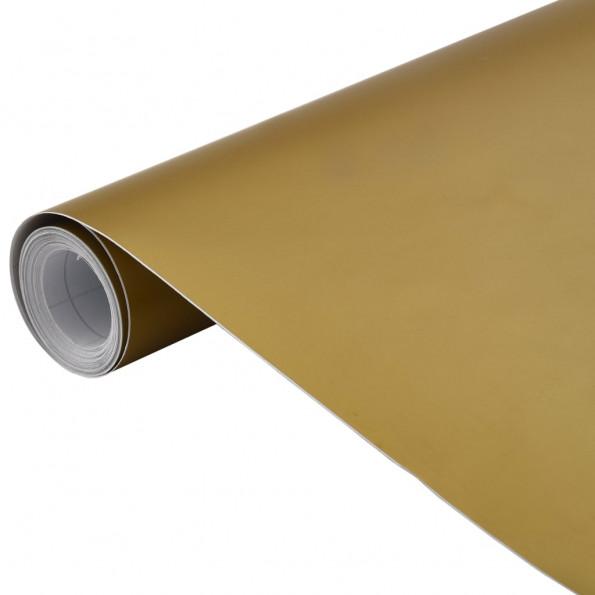 Bilfolie 200x152 cm mat guldfarvet