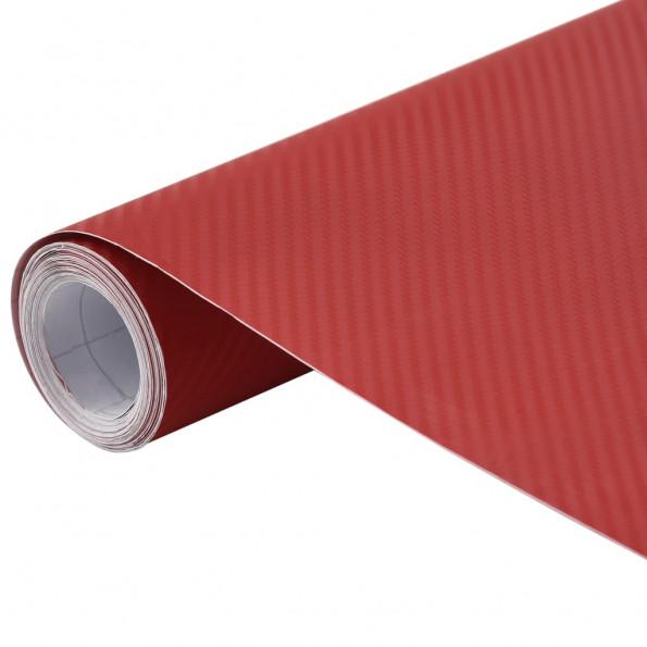 Bilfolie 200x152 cm 3D mat rød