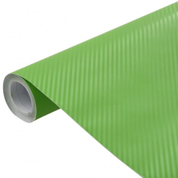 Bilfolie 200x152 cm 3D mat grøn