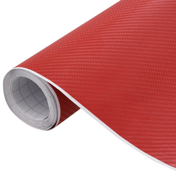 Bilfolie 200x152 cm 4D mat rød