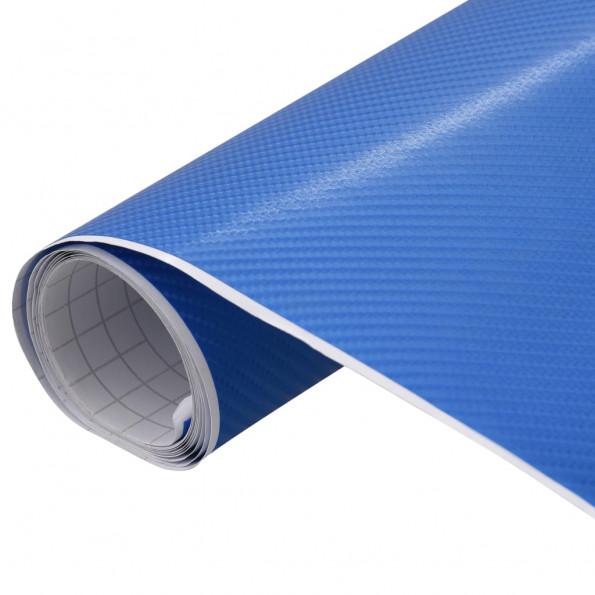 Bilfolie 200x152 cm 4D mat blå