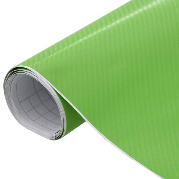 Bilfolie 200x152 cm 4D mat grøn
