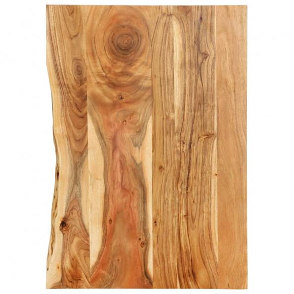 Bordplade til toiletbord 80x55x2,5 cm massivt akacietræ