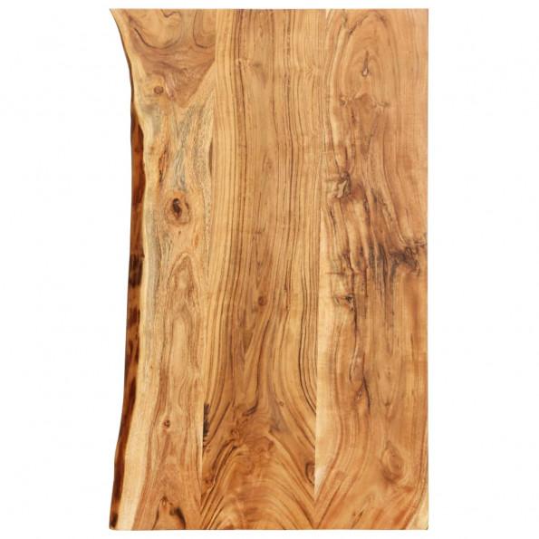 Bordplade til toiletbord 100x55x3,8 cm massivt akacietræ