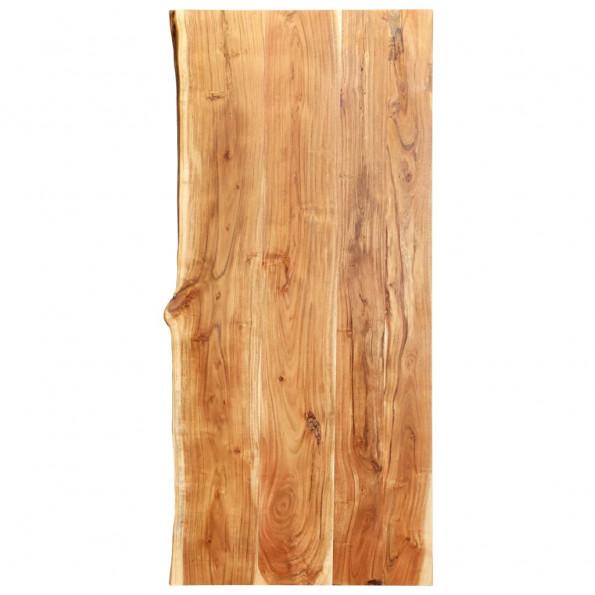 Bordplade til toiletbord 120 x 55 x 3,8 cm massivt akacietræ