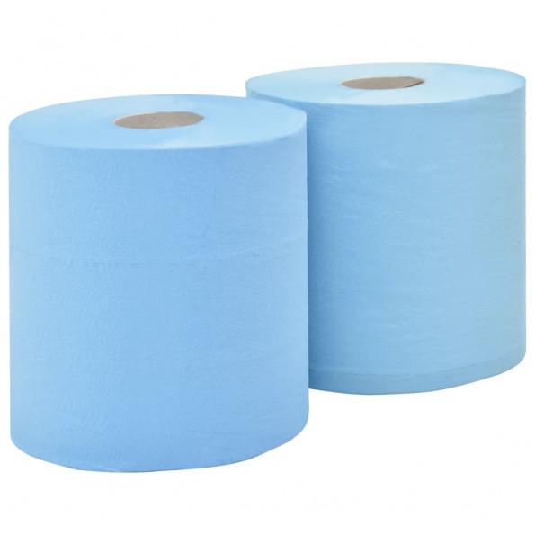2-lags industriel papirrulle 2 ruller 20 cm blå