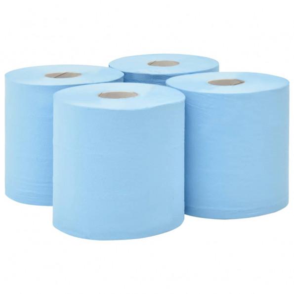 2-lags industrielle papirruller 4 ruller 20 cm blå
