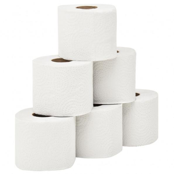 2-lags toiletpapir med præget mønster 128 ruller 250 ark