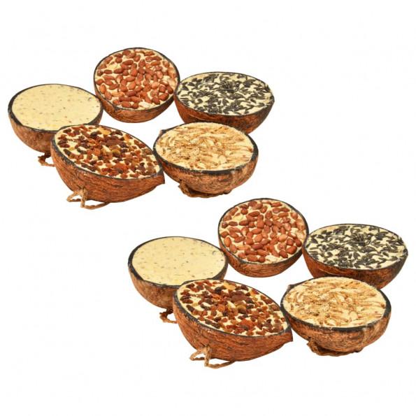 Fuglefoder 10 stk. fyldte halve kokosnødder 290 g