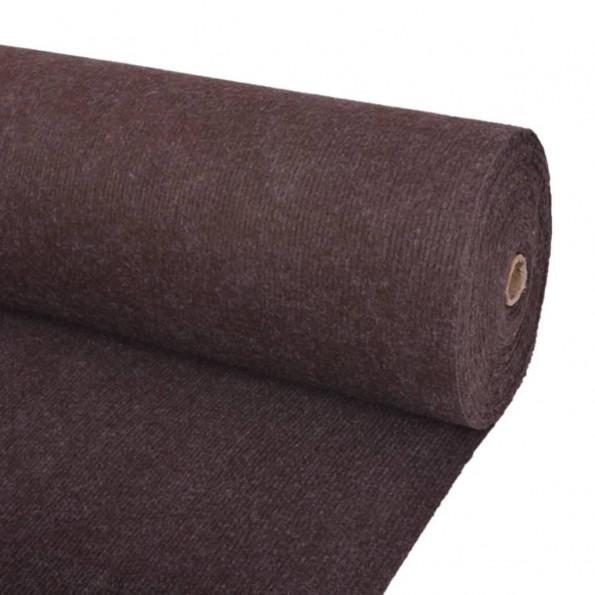 Messetæppe riflet 1,6 x 20 m brun