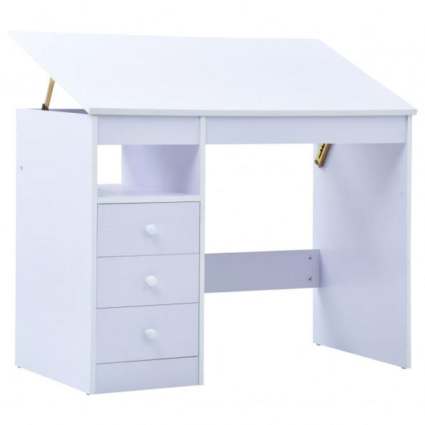 Børneskrivebord vipbart hvid