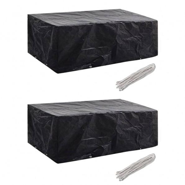 Møbelovertræk 2 stk. 8 snørehuller 200 x 160 x 70 cm
