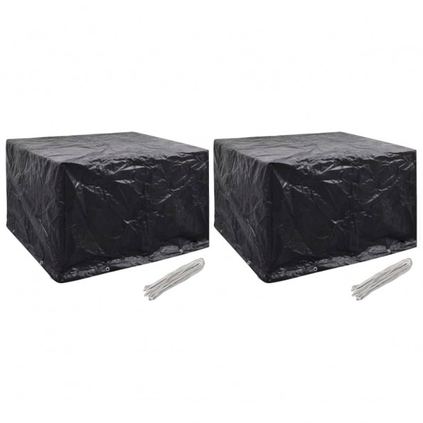 Havemøbelovertræk 2 stk. 8 snørehuller 135 x 135 x 90 cm